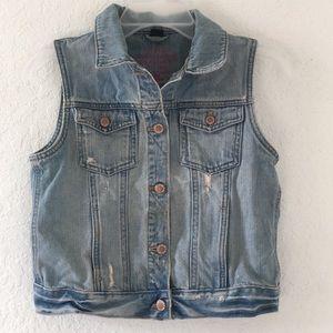 Girls Gap Vest Jeans Jacket size XXL 14-16
